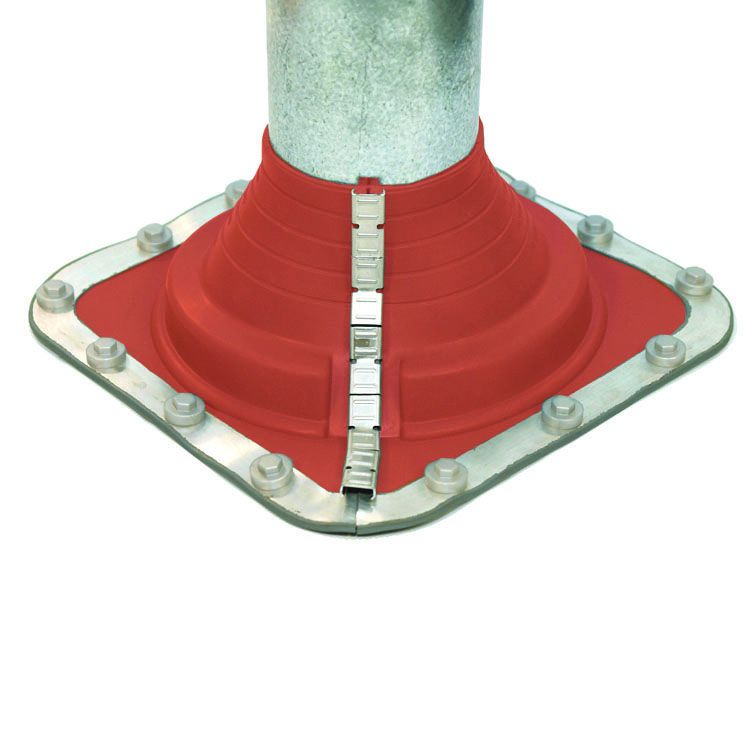 Pipe Flashing for Metal Roofs 175-330mm Dektite Combo Red Silicone