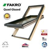 Fakro FTT U8/02 Quad Glazed Window Pine Centre Pivot - 55cm x 98cm