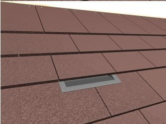 Forticrete Hardrow Low Profile Soil Vent Tile For Hardrow Roof Tile