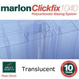 40mm Translucent Tenwall ClickFix Polycarbonate Sheet 6000mm x 500mm