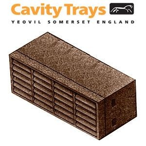 Box of 100 High Performance Cavibricks with 7500mm2 Airflow - Brown