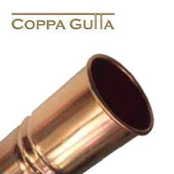 Copper Guttering Round 80mm Downpipe 2.4m Length