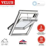VELUX GGU CK06 007030 White Centre Pivot Solar INTEGRA Window 55x118cm