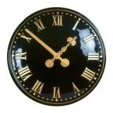 610mm Diameter Traditional Roman Style Exterior Clock - Black