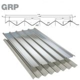 GRP Double Six M Grey Roof Sheet (Class 3 - 2.4kg/m2) - 1830mm