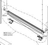 VELUX Blind Spare Part - Kitset for Control Rail - DKL/RFL S06