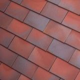 Dreadnought Premium Clay Roofing Tile & Half - Red Blue Blend Smooth