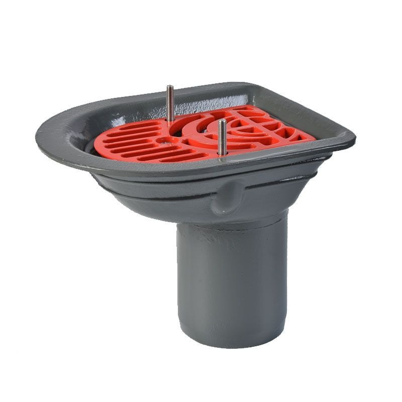 ACO Rainwater Roof Balcony Outlet Spigot with Flat Grate - 100mm