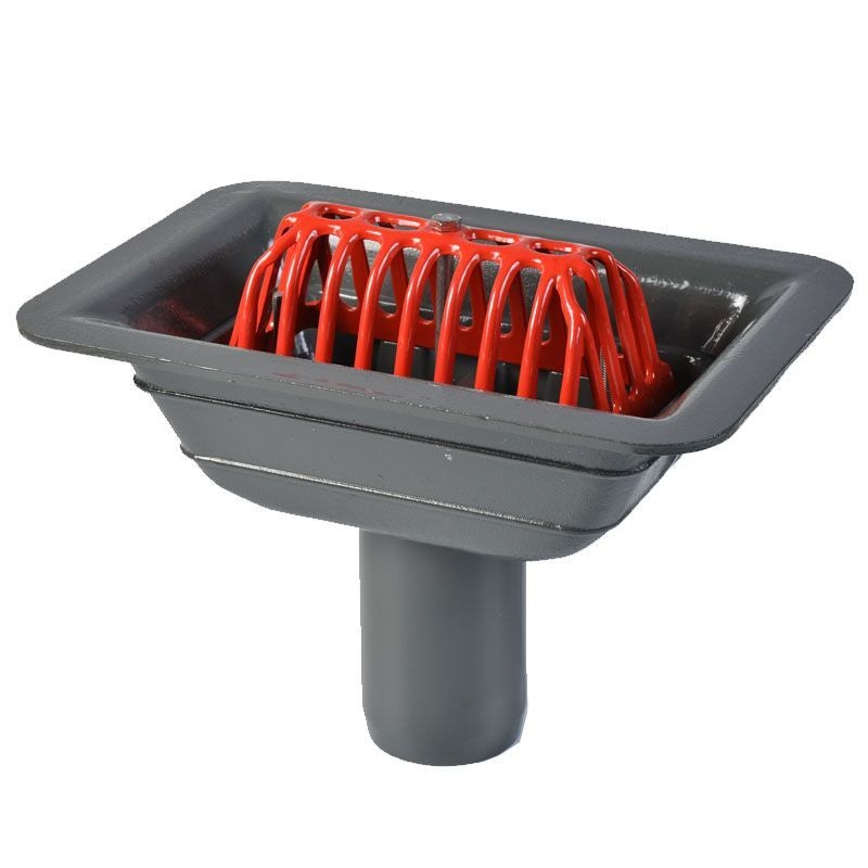 ACO Rainwater Balcony Outlet Gully with Dome Grate - 75mm