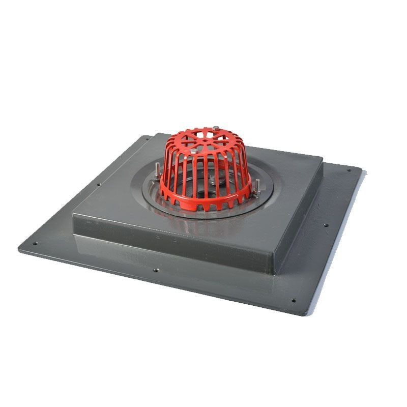 ACO Rainwater Roof Gully Refurbishment Outlet with Dome Grate - 75mm