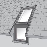 VELUX EFL PK06 0012 Single Vertical Element Slate Flashing 94 x 118cm
