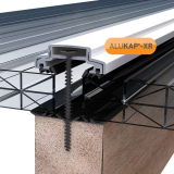 ALUKAP-XR 45mm Aluminium Bar with End Cap in White - 6m