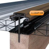 ALUKAP-XR 45mm Aluminium Bar with End Cap in Brown - 4.8m