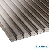 Corotherm 16mm Bronze Triplewall Polycarbonate Sheet - 3000mm x 1220mm