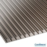 Corotherm 10mm Bronze Twinwall Polycarbonate Sheet - 2000mm x 1050mm