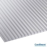 Corotherm 10mm Clear Twinwall Polycarbonate Sheet - 4000mm x 1600mm