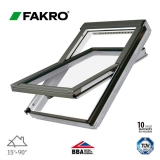 Fakro FTW-V P2/02 White Painted Centre Pivot Window - 55cm x 98cm