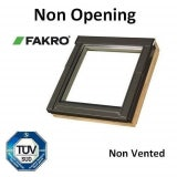FNP P2 Fakro Non-Opening Pine Roof Window Obscure Glass - 55cm x 60cm