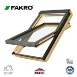 Fakro FTP - V P5/04 Pine Centre Pivot Window Laminated - 66cm x 118cm