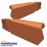 Manthorpe SmartVerge uPVC Dry Verge Unit - Left Hand (Terracotta)