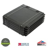 Envirotile Plastic Lightweight Roofing Tile in Anthracite - Pack of 10