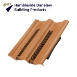Hambleside Danelaw Double Pantile Flush Fit Tile Vent - Terracotta