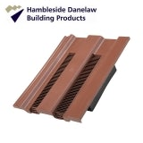 Hambleside Danelaw Castellated Flush Fit Roof Tile Vent - Antique Red