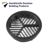 Hambleside Danelaw Round / Circular Soffit Vent in Black - 2,500mm2