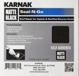 Karnak Seal-N-Go Self Adhesive Patch Repair for Felt Roofs - Black