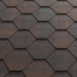 Katepal Super Jazzy Hexagonal Felt Roofing Shingles (3m2) - Brown