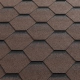 Katepal Super Katrilli Hexagonal Felt Roofing Shingles 3m2 - Brown