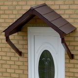 KoverTek Astor Canopy with Brown Frame and Brown Roof