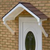 KoverTek Astor Canopy with White Frame and Brown Roof