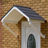 KoverTek Astor Canopy with White Frame and Grey Roof