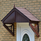 KoverTek Blakemore Canopy with Brown Frame and Brown Roof