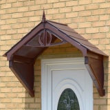 KoverTek Clarendon Canopy with Brown Frame and Brown Roof