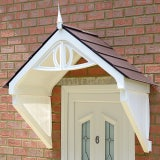 KoverTek Clarendon Canopy with White Frame and Brown Roof