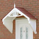 KoverTek Clarendon Canopy with White Frame and Terracotta Roof
