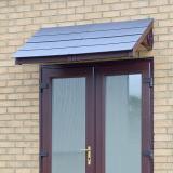 KoverTek Kurtis Canopy with Brown Frame and Grey Roof