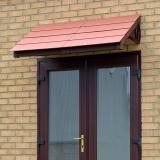 KoverTek Kurtis Canopy with Brown Frame and Terracotta Roof
