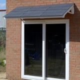 KoverTek Kurtis Plus Canopy with White Frame and Grey Roof