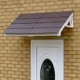 KoverTek Kurtis Canopy with White Frame and Brown Roof