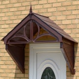 KoverTek Dorchester Canopy with Brown Frame and Brown Roof
