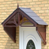 KoverTek Dorchester Canopy with Brown Frame and Grey Roof
