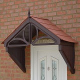 KoverTek Dorchester Canopy with Brown Frame and Terracotta Roof