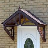 KoverTek Hilton Canopy with Brown Frame and Brown Roof