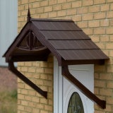 KoverTek Regency Canopy with Brown Frame and Brown Roof