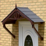 KoverTek Regency Canopy with Brown Frame and Grey Roof