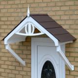 KoverTek Regency Canopy with White Frame and Brown Roof