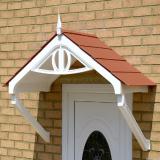 KoverTek Regency Canopy with White Frame and Terracotta Roof